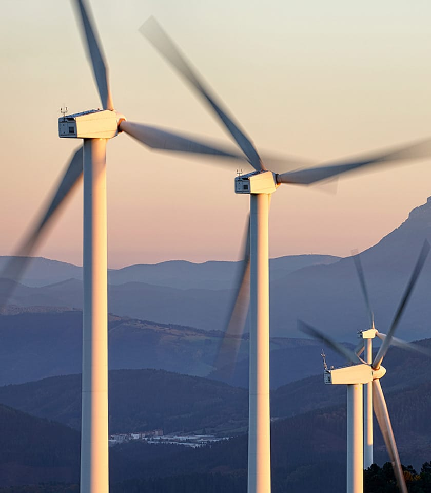 wind farm mountains